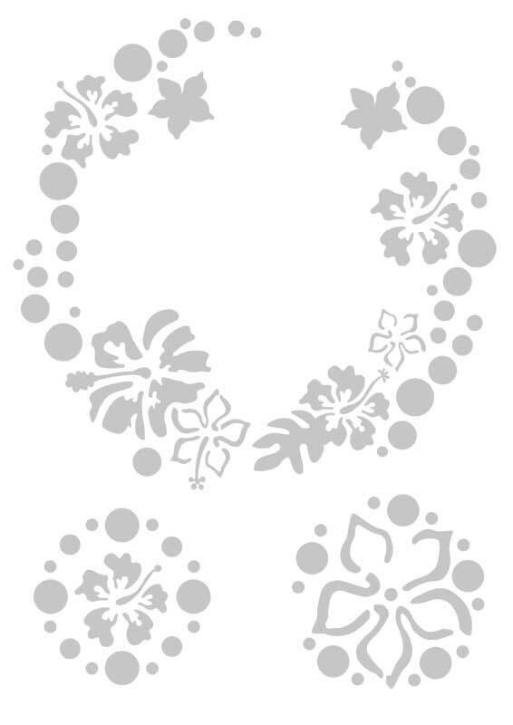 Schablone - A4, Blumenkreis
