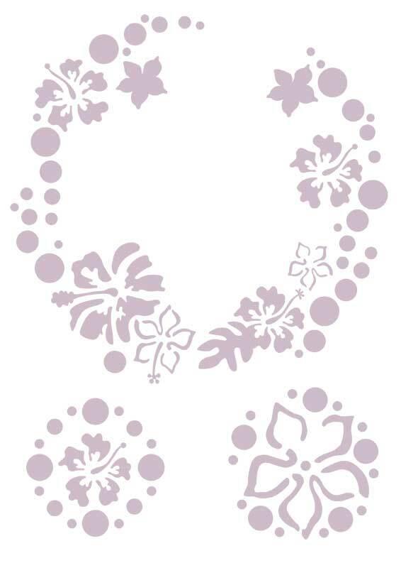Sjabloon - A4, bloemencirkel