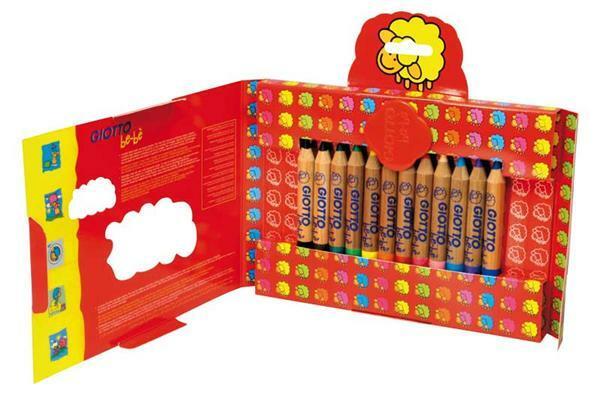 Giotto be-bè crayons de couleurs, 12 pces