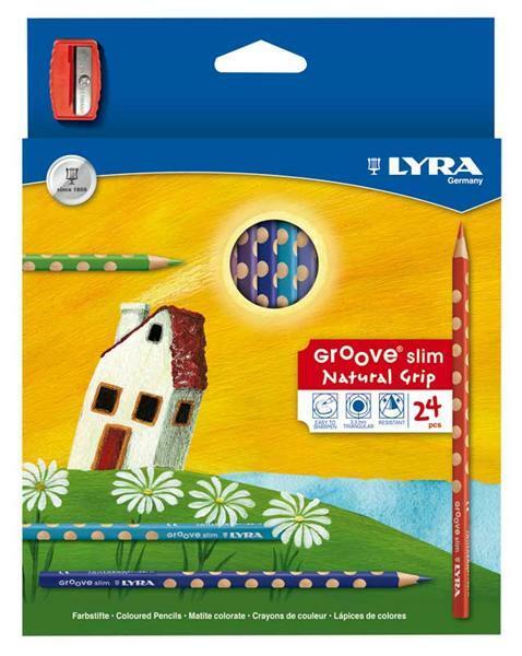 Lyra Groove slim Farbstifte, 24 Stk. + Spitzer