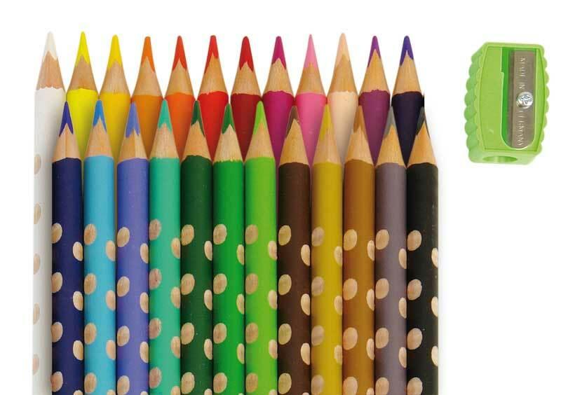 Lyra Groove slim kleurpotloden, 24 stuks + puntens