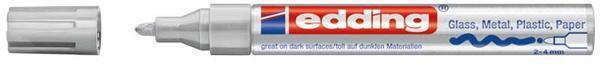 edding 750 - creative Marker,  2 - 4 mm, silber