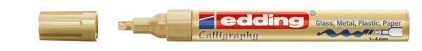 Edding 755 - Marqueur calligraphie, 1-4 mm, or
