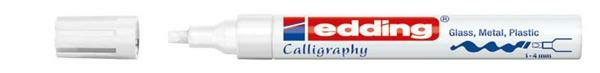 Edding 755 - Marqueur calligraphie, 1-4 mm, blanc
