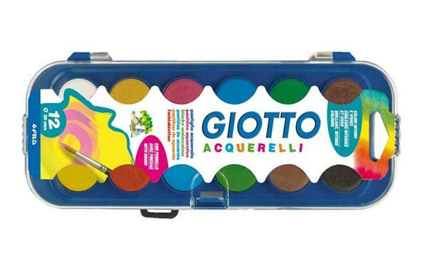 Boîte de peinture Giotto, 12 couleurs