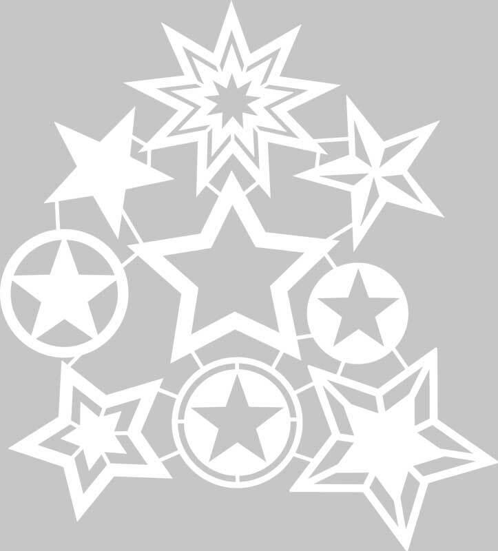 Pochoir silhouette - 30 x 30 cm, étoile
