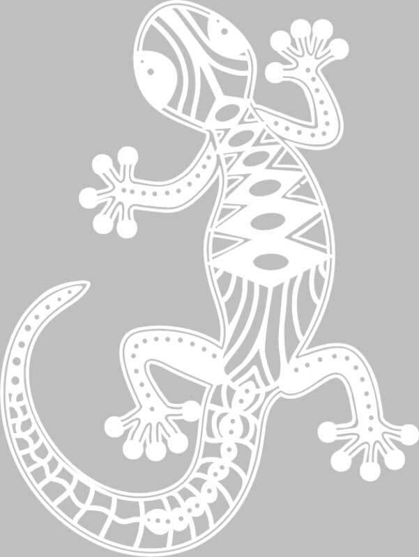 Silhouet sjabloon - A4, gekko