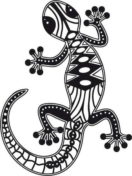 Silhouette-Schablone - A4, Gecko
