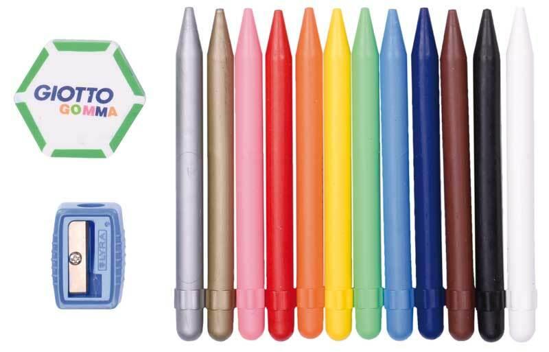 Crayons-cire Giotto Cera Strong - 12 pces