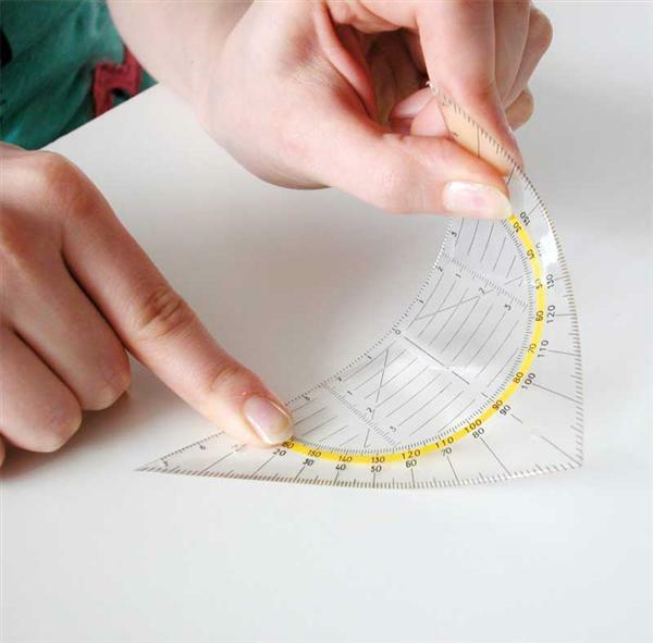 Geodriehoek flex, hyp. 16 cm