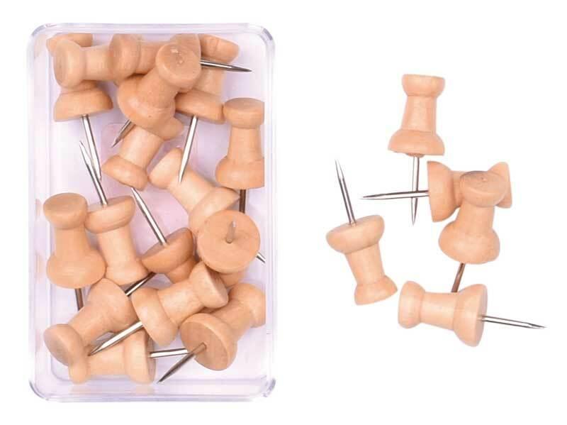 Pushpins - hout, 20 stuks