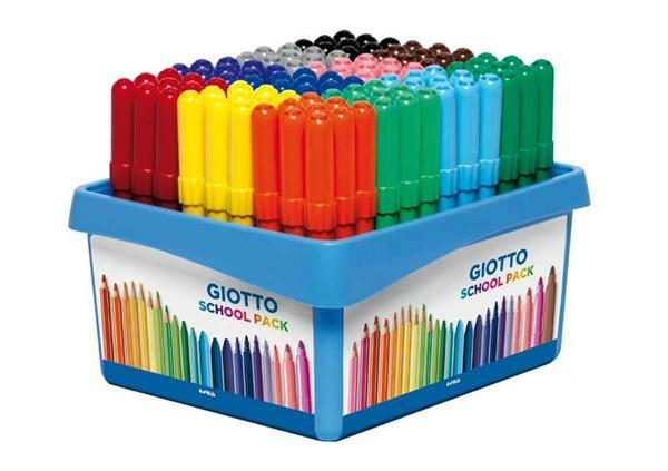 Giotto Turbo Color - Maxi viltstiften, 108 stuks