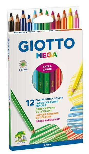 Giotto Farbstifte Mega, 12 Stk.