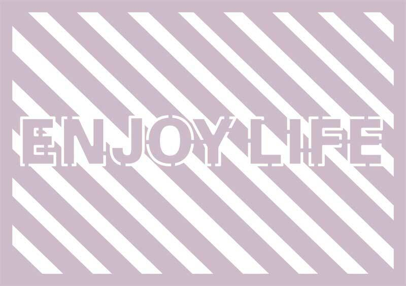Silhouette-Schablone - A4, Enjoy Life