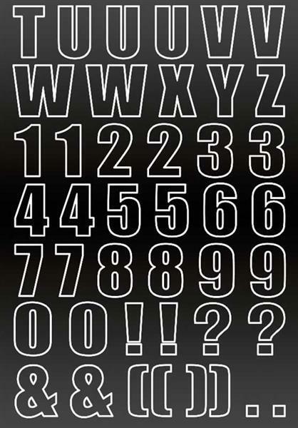 Tafelfolie - Buchstaben & Schriftzüge