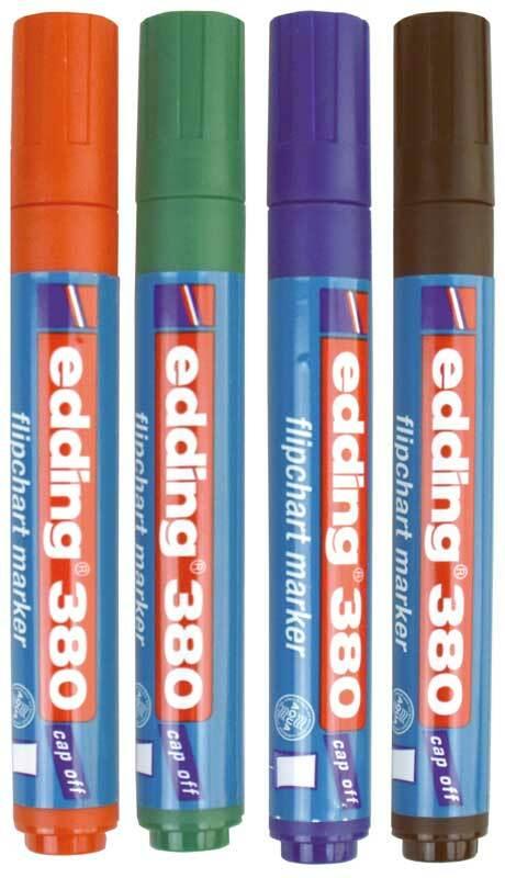 Edding 380 - Flipchart Marker, 4 stuks