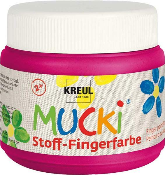 MUCKI textiel-vingerverf - 150 ml, zuurstokroze