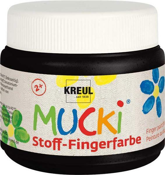 MUCKI Stoff-Fingerfarben - 150 ml, schwarz