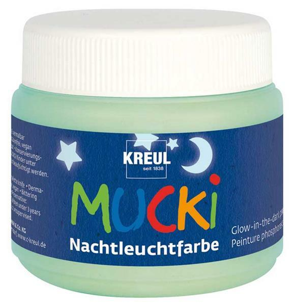 MUCKI glow in the dark verf - 150 ml, lichtblauw