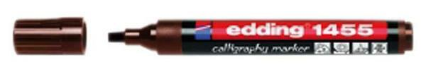 Edding 1455 - calligraphy marker, 1-5 mm, donkerbr