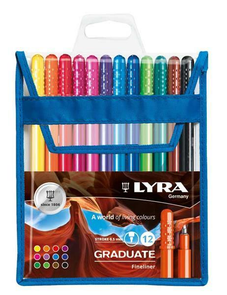 Lyra Graduate Fineliner, 12 pces