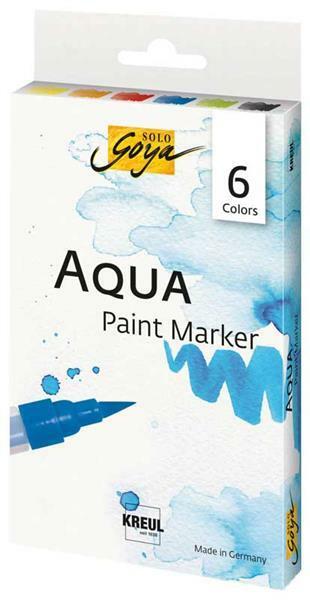 Marqueurs Solo Goya Aqua Paint, 6 pces