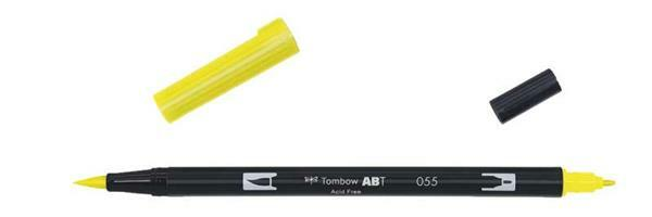 Feutres Tombow ABT - Dual Brush, jaune