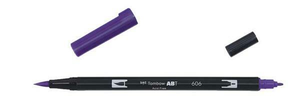 Tombow ABT - Dual Brush Pen,  violett