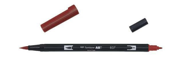 Tombow ABT - Dual Brush Pen,  weinrot