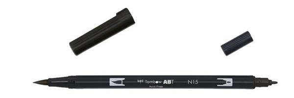 Feutres Tombow ABT - Dual Brush, noir
