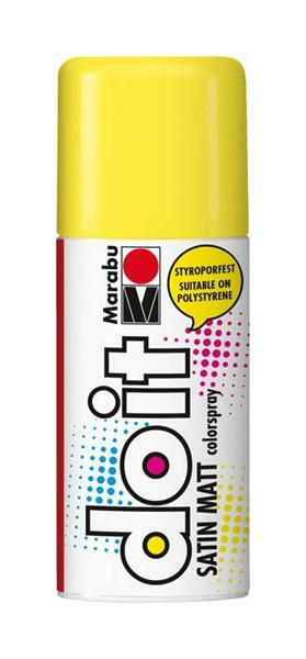 Marabu do it zijdemat spray - 150 ml, zonnegeel