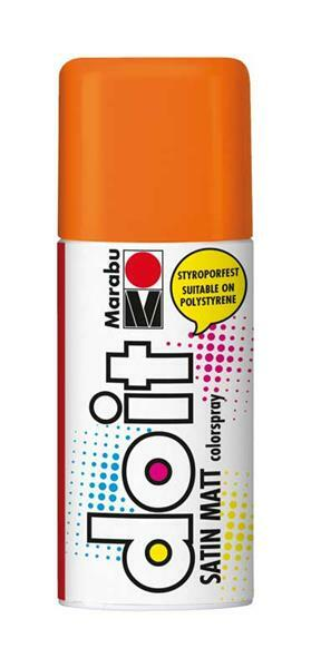 Marabu do it zijdemat spray - 150 ml, oranje