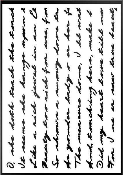 Pochoir - A4, écriture