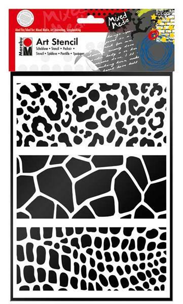 Pochoir - A4, Impression peaux d'animaux