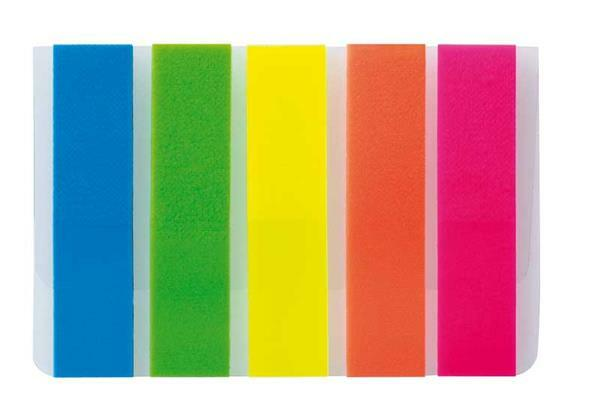 Marque-pages néon - 12 x 50 mm, 125 pces