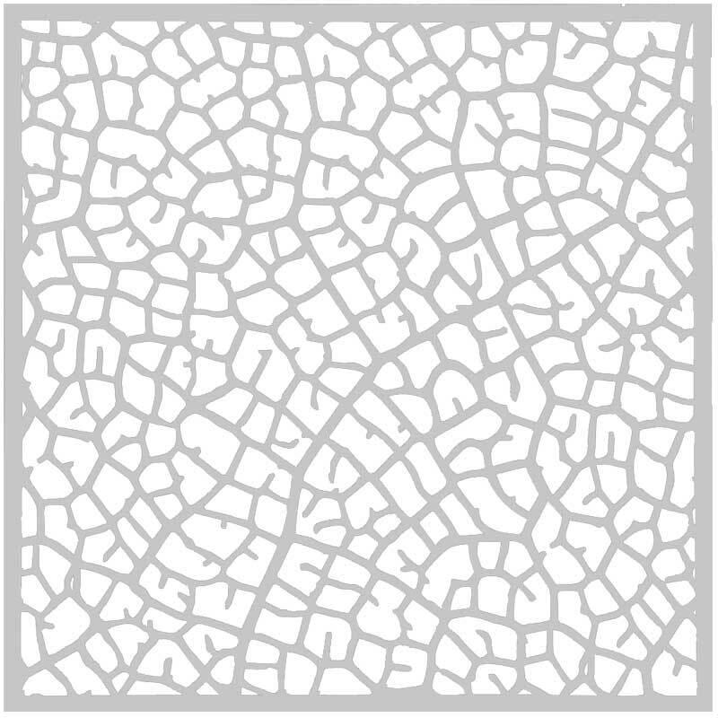 Sjabloon - 30 x 30 cm, blad