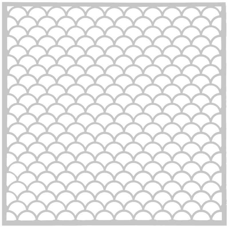 Schablone - 30 x 30 cm, Wellen