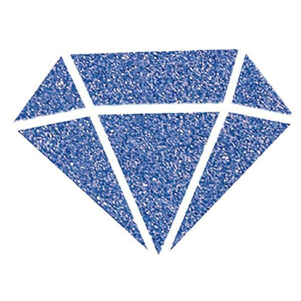 IZINK Diamond glitterverf - 80 ml, blauw