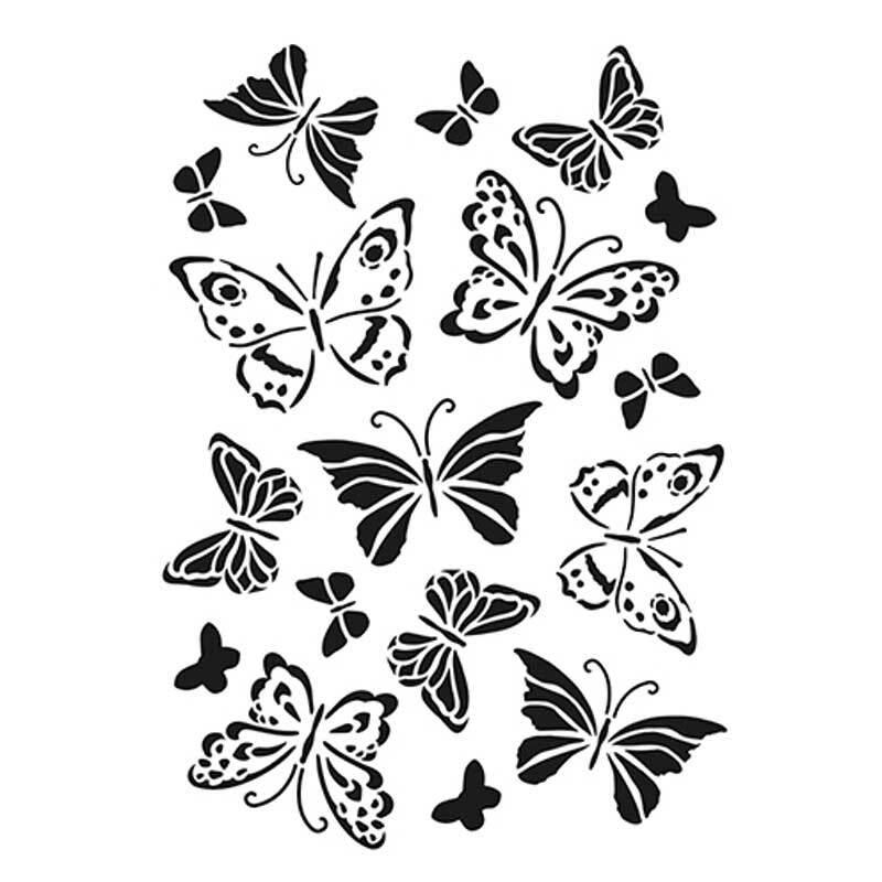 Sjabloon - A4, vlinder