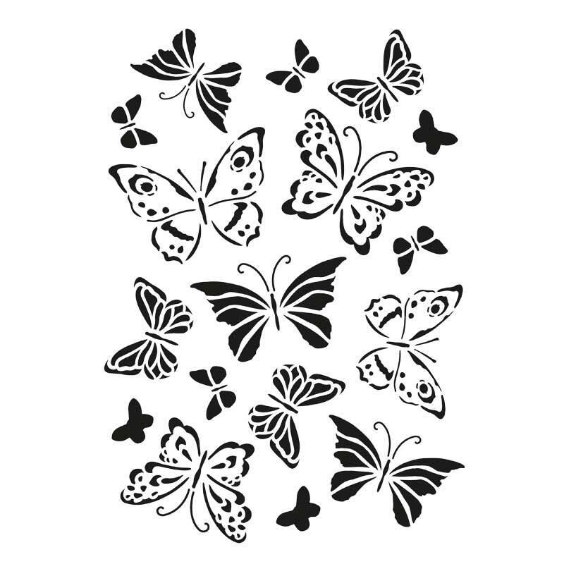 Schablone - A4, Schmetterlinge