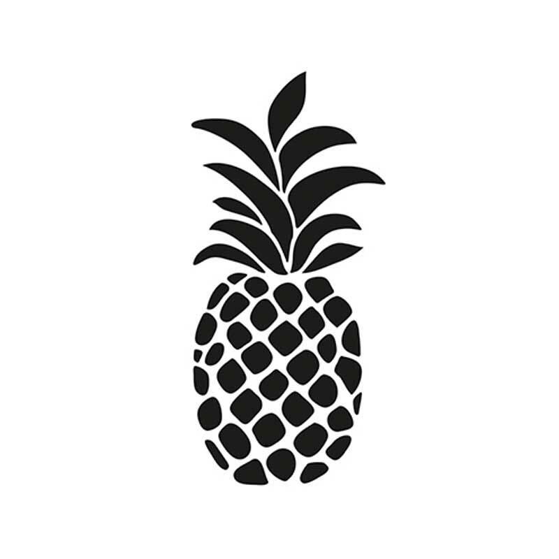 Schablone - A4, Ananas