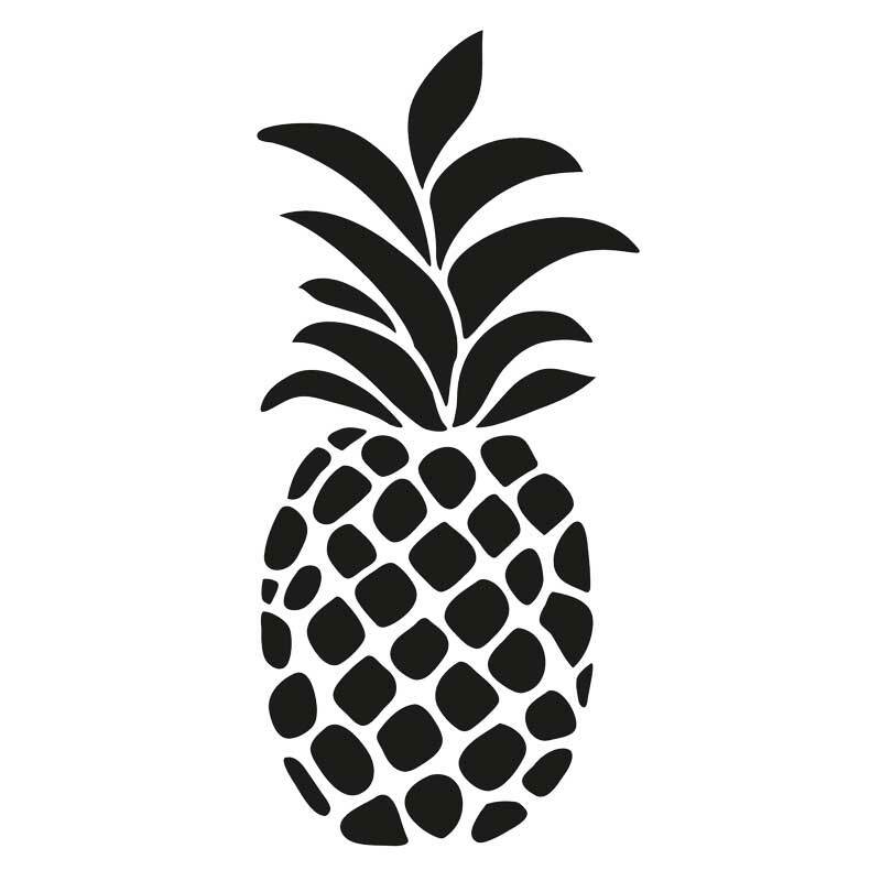 Sjabloon - A4, ananas