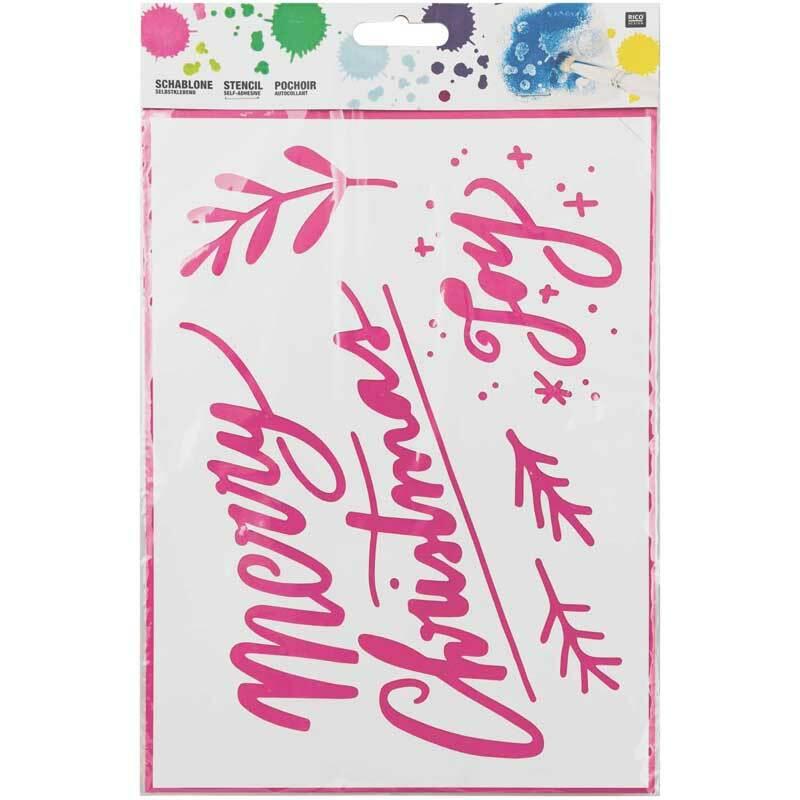 Sjabloon - 18,5 x 24,5 cm, zelfklevend, Merry X-m