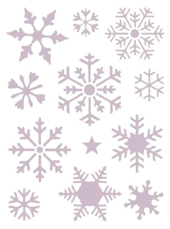 Schablone - 18,5 x 24,5 cm, selbstkl, Schneeflocke