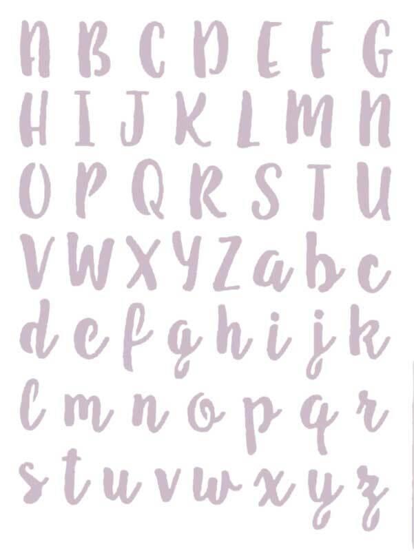 Schablone - 18,5 x 24,5 cm, Schreibschrift