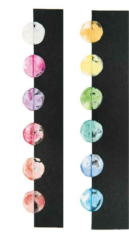 Peintures à l'eau - 12 couleurs, effet perlé