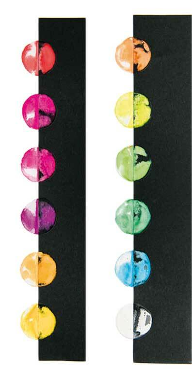 Kunstenaars-waterverfset - 12 kleuren, neoneffect