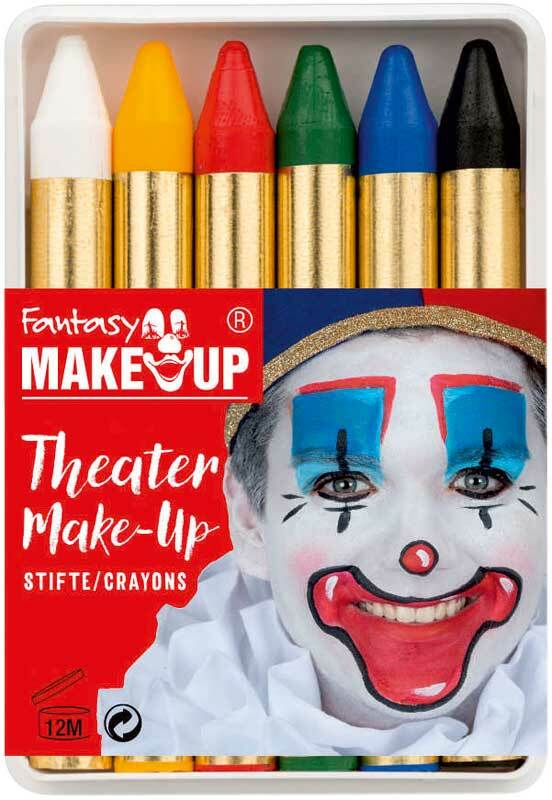 Schminkpotloden - Fantasy Make Up, 6 kleuren