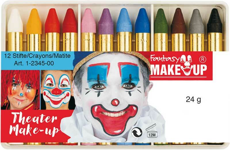 Schminkpotloden - Fantasy Make Up, 12 kleuren
