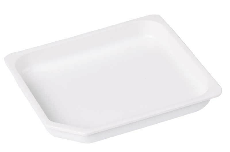 Récipient en plastique - blanc, 10,5 x 12 cm